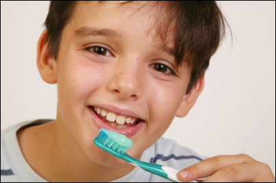 BoyBrushingTeeth